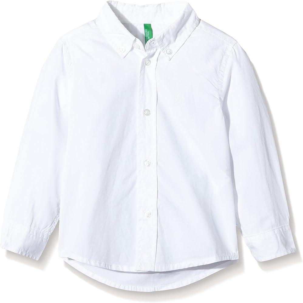 Benetton 5EW75Q600 - camisa Niñas, Blanco (WHITE), 12-13 años: Amazon.es: Ropa y accesorios