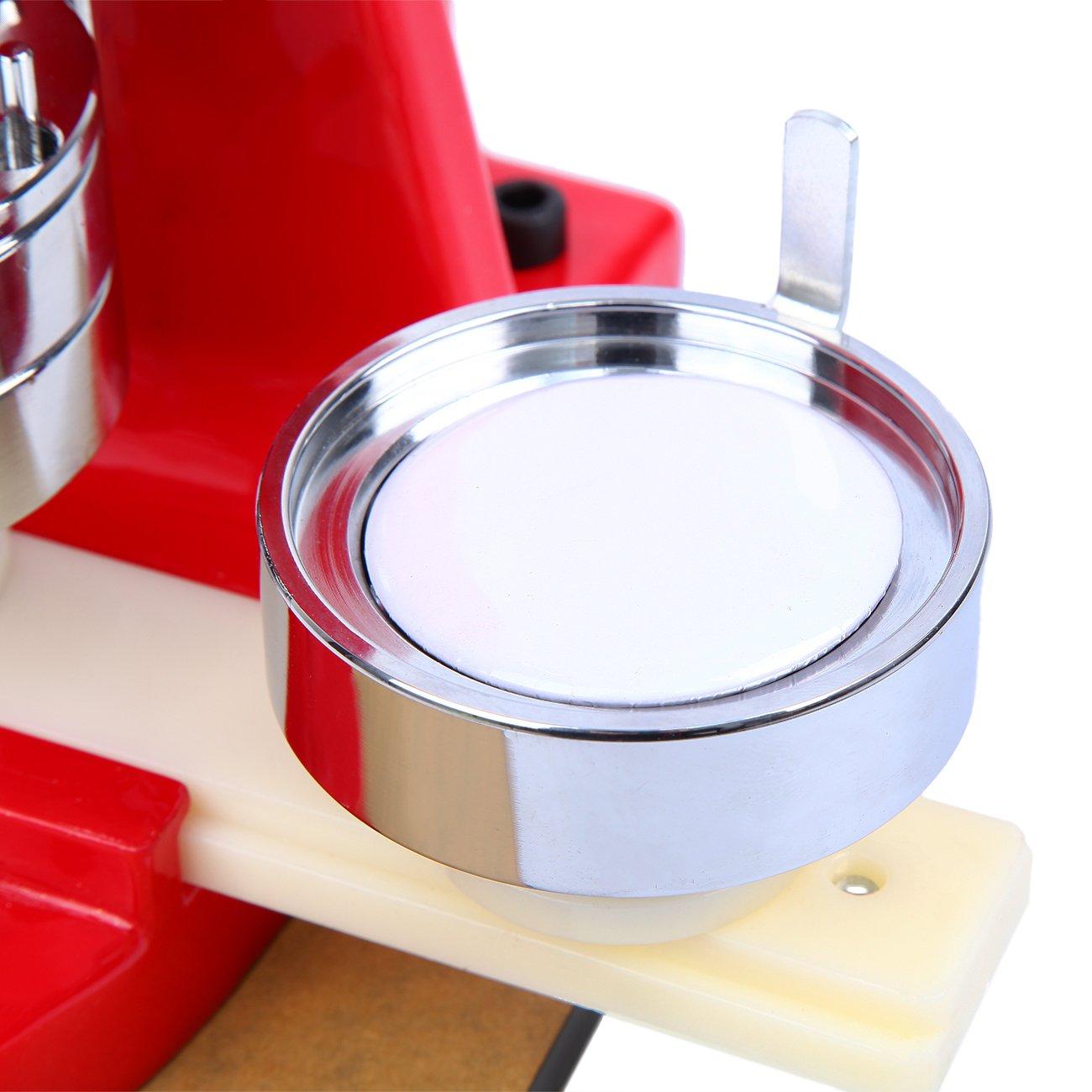 Paneltech 25mm//32mm//58mm Machine à Badges Press Button machine à machine à pain 500//1000 Composants Bricolage Badge Broche Faire Moule Bouton Maker Punch Machine 32mm