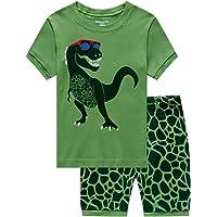 Pijama corto para niños con diseño de dinosaurios para niños de 1 a 10 años