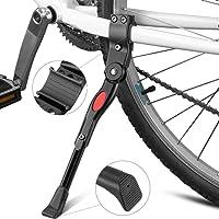 "Bike Kickstands, Furado Side Kickstand, Kickstands, Bike Stand, Bicycle Stand, bicycle kickstand, Cycling kickstand, Aluminum Alloy Kick Stand, Bicycle Alloy Adjustable Side Kickstand, for Bike 22"" - 28"" (Black)"