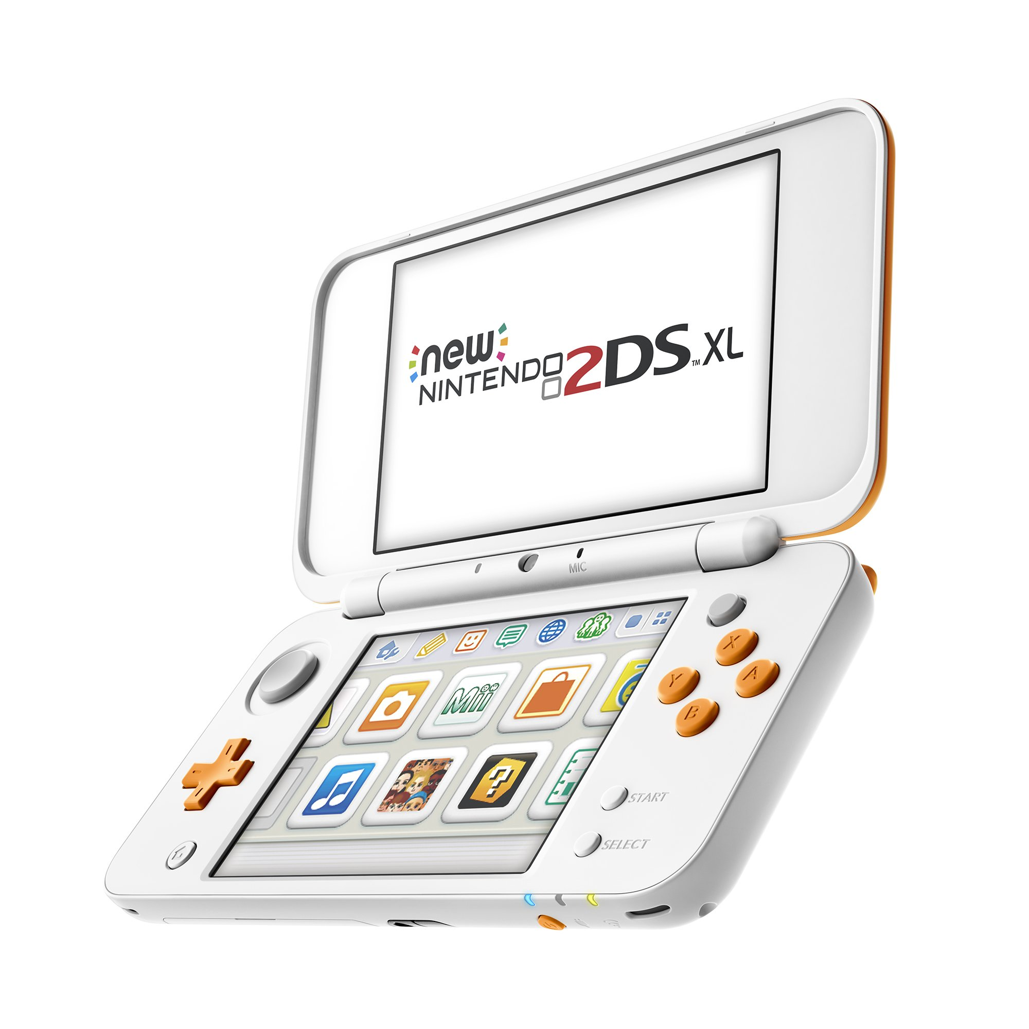 New Nintendo 2DS XL Handheld Game Console - Orange + White With Mario Kart 7 Pre-installed - Nintendo 2DS by Nintendo (Image #6)