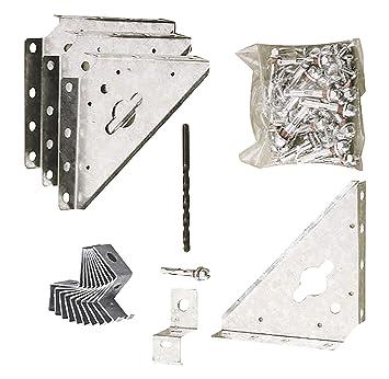 Chalet Et Jardin Ak100 Kit D Ancrage Sur Beton Pour Abri De Jardin En Metal