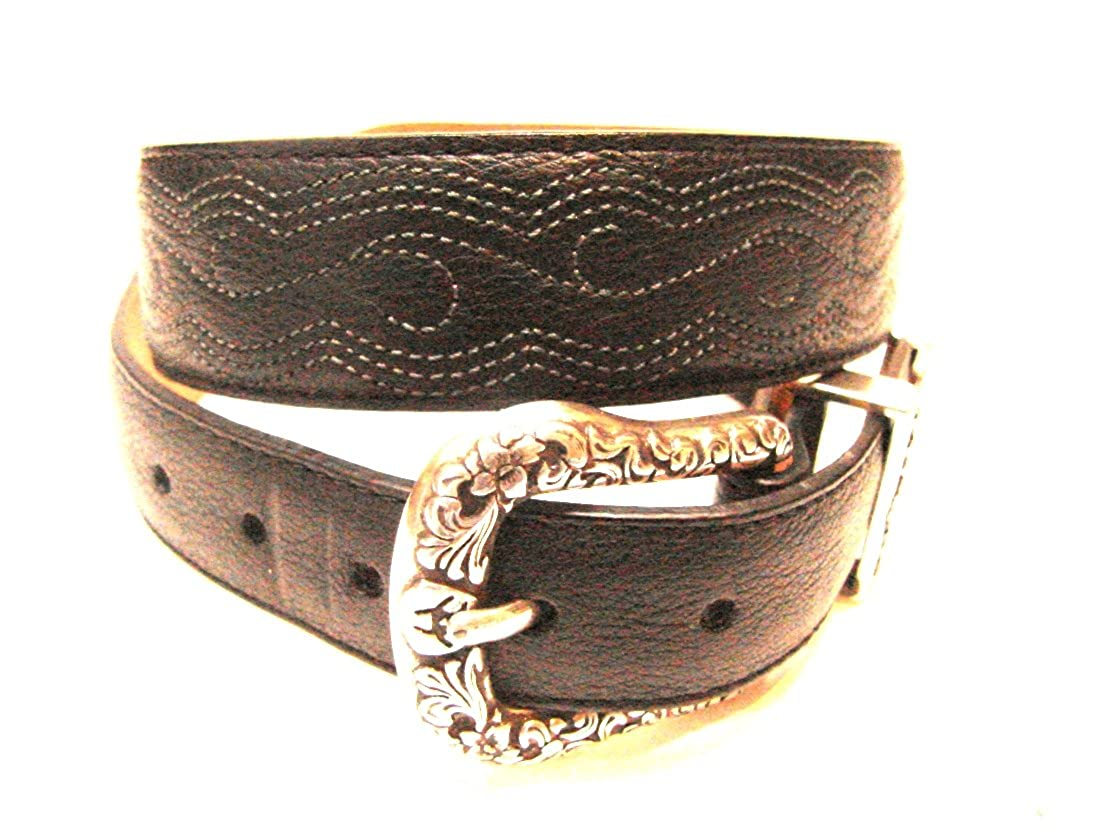 ARIAT GIRLS / WOMENS BLACK FULL EMBROIDERY LEATHER BELT 30 (29-31)