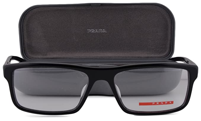e607a6659f4 Prada PS04GVF Eyeglasses 55-16-140 Black 1AB1O1 PS4GF  Amazon.co.uk   Clothing