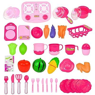 LoKauf Jeu d'imitation 42Pcs Kit Jouet de Cuisine pour Enfant