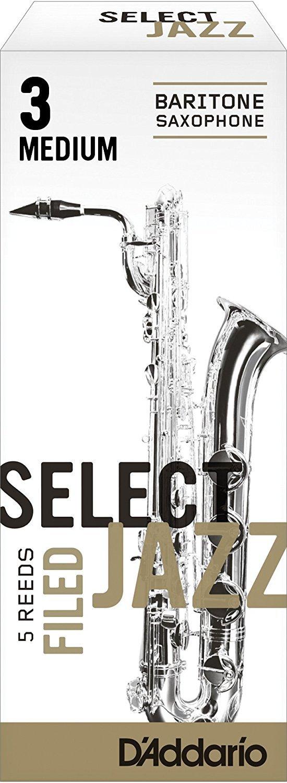 CAÑAS SAXOFON BARITONO - D´Addario Rico Select Jazz (Dureza 3 Media) (Caja de 5 Unidades)