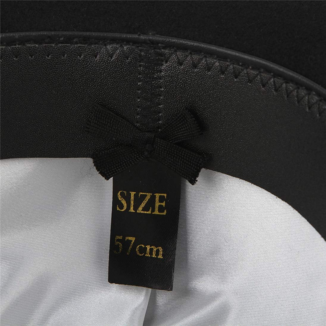 Fedora Hat for Men Bowler Derby Pure Wool Felt Jazz Hat Trilby Cap in Black with Feather and Band