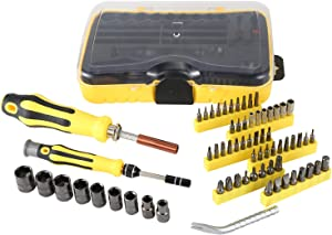 YANGMING Screwdriver Bit Set with Nut Drivers,70-in-1 Professional Magnetic Nut Driver Set