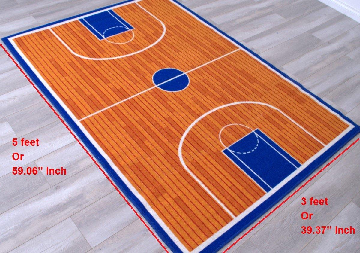 Amazon.com: Cancha de Baloncesto Niños Educativo alfombra de ...