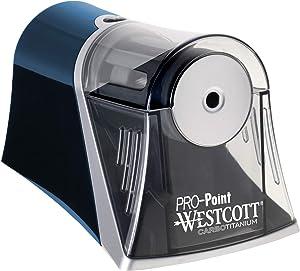 Westcott PRO-Point CarboTitanium Axis Single Dial Electric Sharpener, Blue