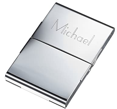 Personalized powell silver plated business card case at amazon personalized powell silver plated business card case colourmoves