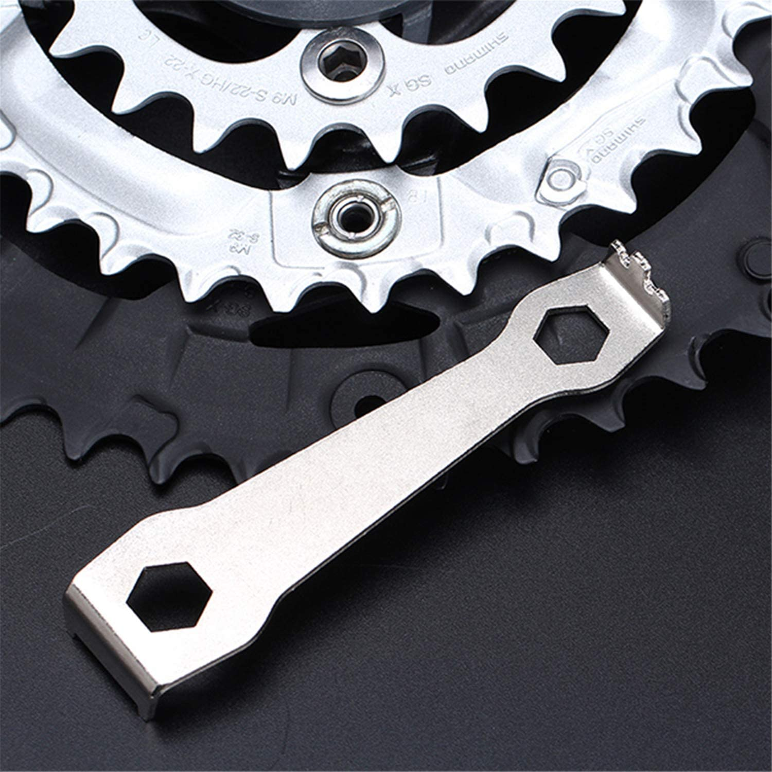 Bicycle Chain Ring Bolts Wrench Chainwheel Dismounting Tool Crankset Chainring Nut Wrench Spanner