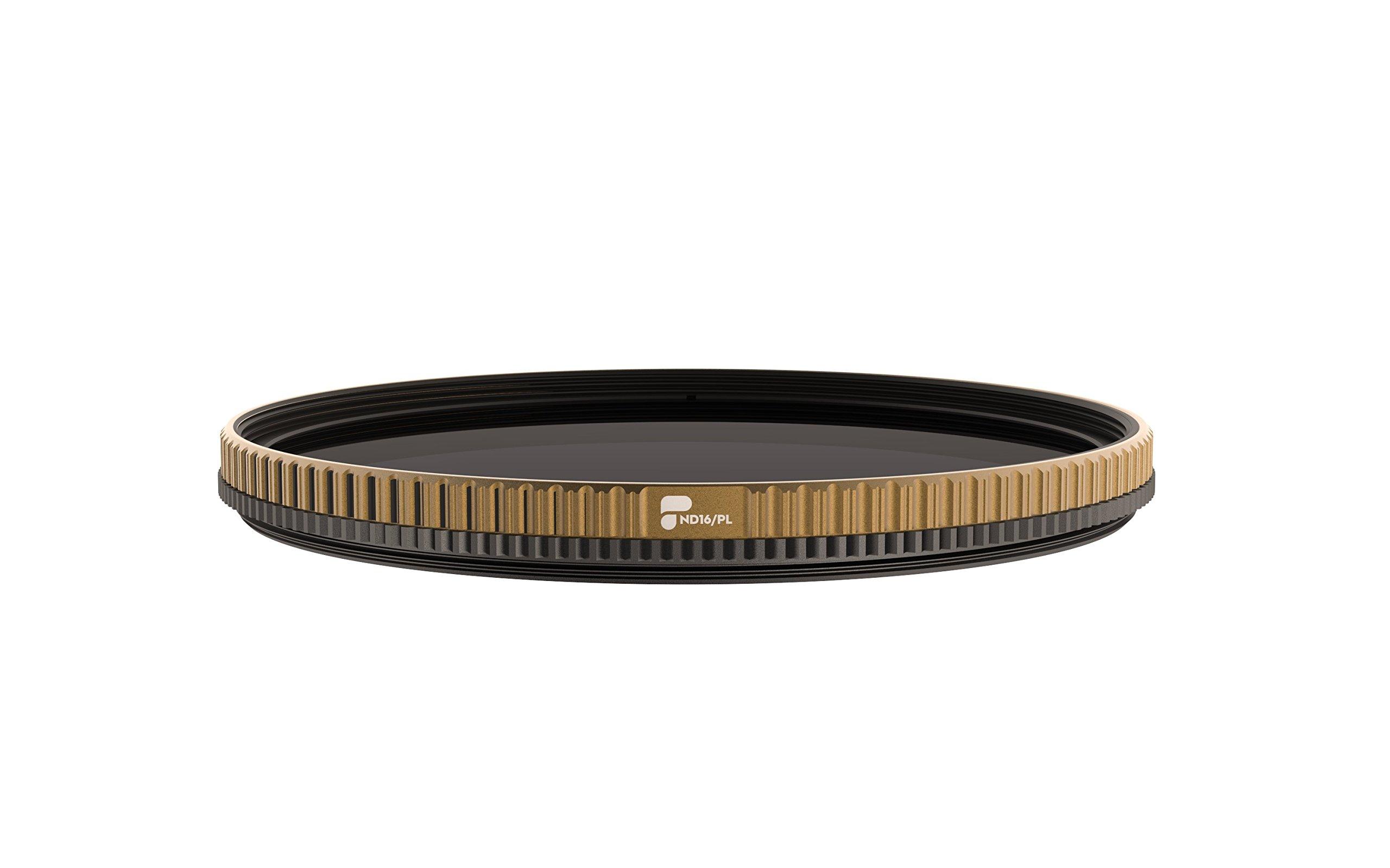 PolarPro QuartzLine 77mm ND16/PL Camera Filter (4-Stop Neutral Density / Polarizer hybrid filter)