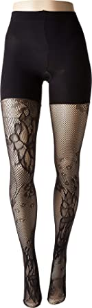 4c061d980 Spanx Womens Fishnet Floral Mid-Thigh Shaping Tights at Amazon ...