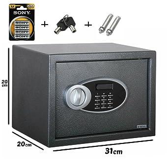 Piushopping - Caja fuerte electrónica para empotrar en la pared - Caja fuerte numérica de acero