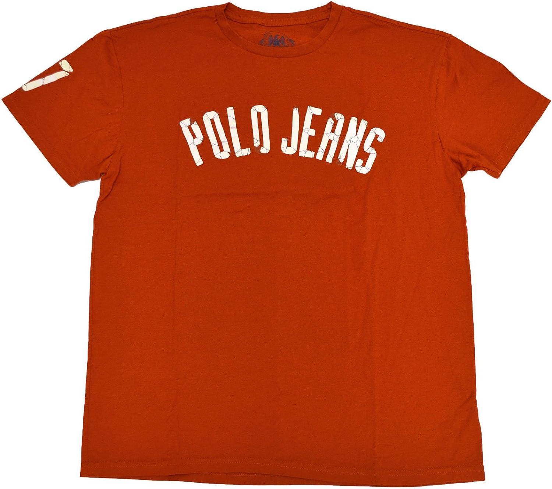 Ralph Lauren Polo Jeans empresa gráfico camiseta naranja 67 funda ...