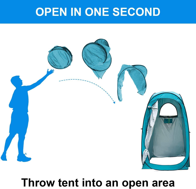 tenda per la privacy pop-up tenda da toilette portatile spogliatoio impermeabile per spiaggia in campeggio e servizio fotografico per interni con borsa Tenda per doccia allaperto
