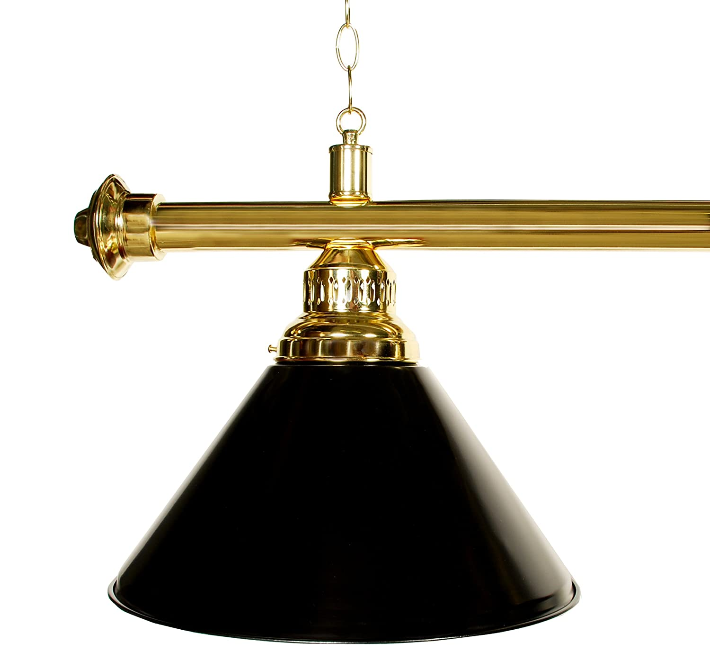 61 Pool Table Light Brass Black Green or Black Metal Shades Billiard Lamp Brass Rod Choose Burgandy