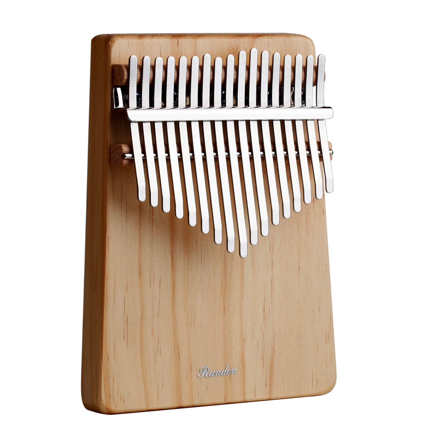 17 Key Kalimba, Randon North American Pine Wood Kalimba Portable Thumb Finger Piano with Tune Hammer and Storage Bag Musical Instrument Gift for Children Friends Music Lovers
