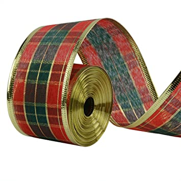 33ft10meters scottish plaid christmas ribbon wreath present wedding arts crafts gift wrapping
