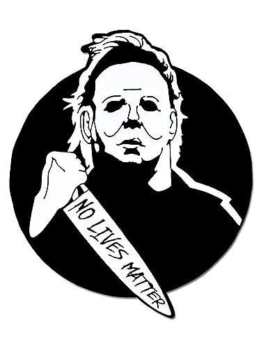 3f14e80a Amazon.com: PinMart Michael Myers No Lives Matter Halloween Enamel Lapel Pin:  Jewelry