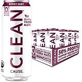 VIRTUE Yerba Mate Natural Energy Drink Zero Sugar Calories Strawberry Lime//Peach