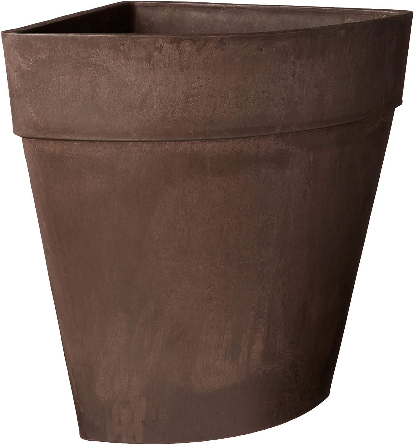 """Arcadia Garden Products HA45C Traditional Corner Pot, 13.5 by 17.5"""", Chocolate, Inches"""