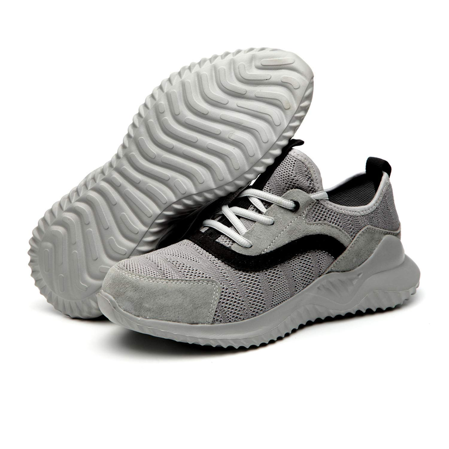 Work Safety Shoes Mesh Lightweight Breathable Toe Construction Slip Resistant Shoes for Hiking Trail Tennis VEJUMBO Steel Toe Shoes Men