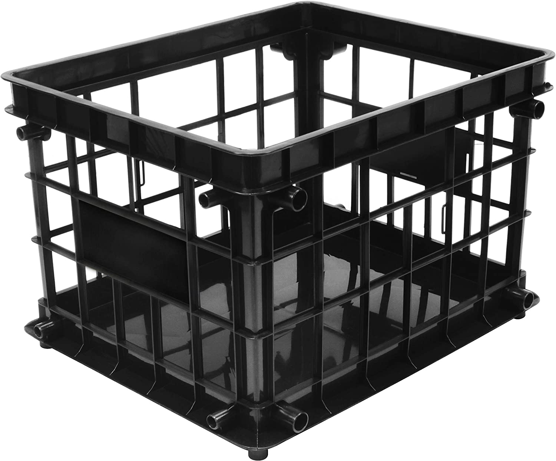 Storex Standard File Crate, Letter/Legal Size, 17.25 x 11.2 x 14.25 Inches, Black (61659A03C)