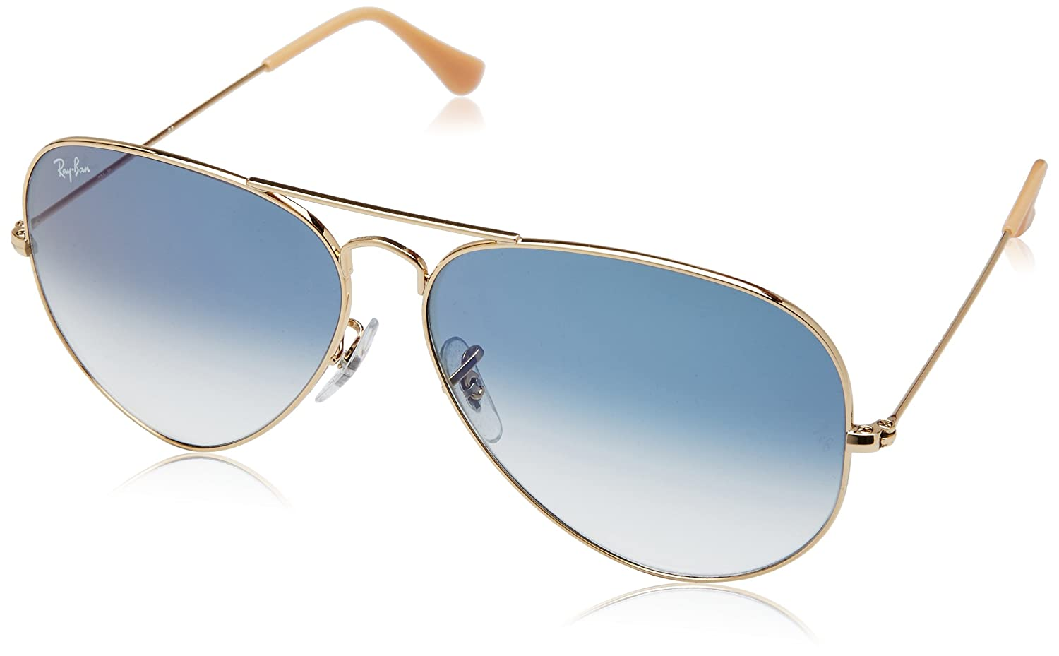10ce68be251 Ray-Ban Aviator Men s Sunglasses (Golden and Blue)  Amazon.in  Clothing    Accessories