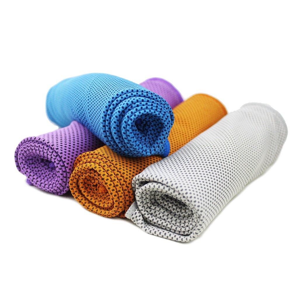 Cooling Towel 4 Packs Magic Ice Towels 40x12 Inch Snap for Sports Gym Fitness Yoga Traveling Camping and Outdoor Activities