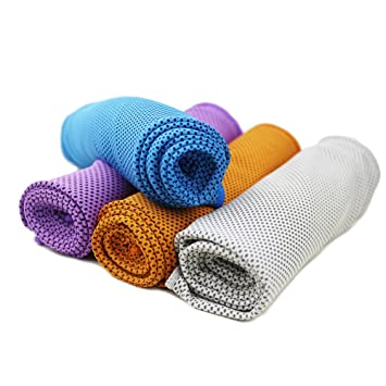 """Refrigeración toalla conjunto de 4 toallas de gimnasio de 40 """"x12"""" Stay Ice"""