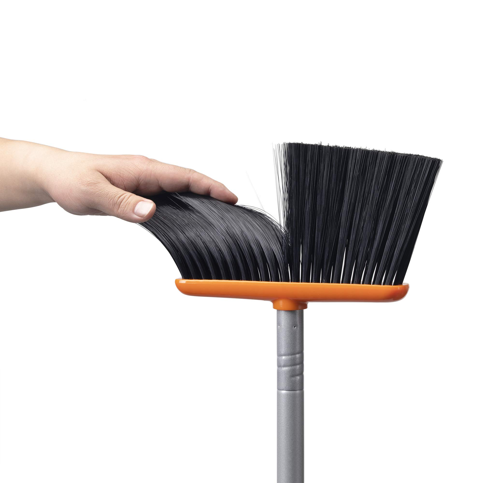 TooToo Broom and Dustpan Set, Sweep Set, Upright Broom and Dustpan Combo with 40''/54'' Long Extendable Handle for Household Cleaning Sweeping, Orange and Dark Grey by TooToo (Image #5)