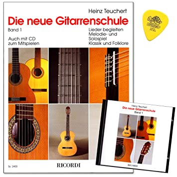 Die neue Gitarrenschule Band 1 von Heinz Teuchert mit CD und Dunlop Plek - leicht nachvollziehbare Lernschritte - Erklärung aller Spielvorgänge mit vielen Foto - Melodiespiel mit begleitender Lehrerstimme uvm ...