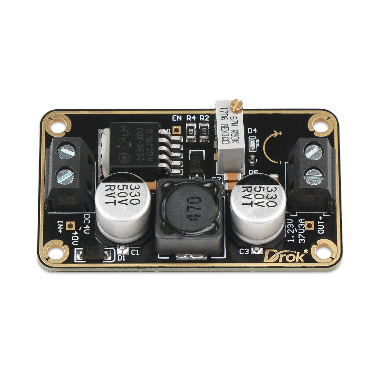 Drok Lm2596 Immersion Gold Buck Converter Dc 3v 40v 24v Step Down To 3a Switching Regulator 123v 37v 9v 12v Voltage Power Supply Module Fba 200338