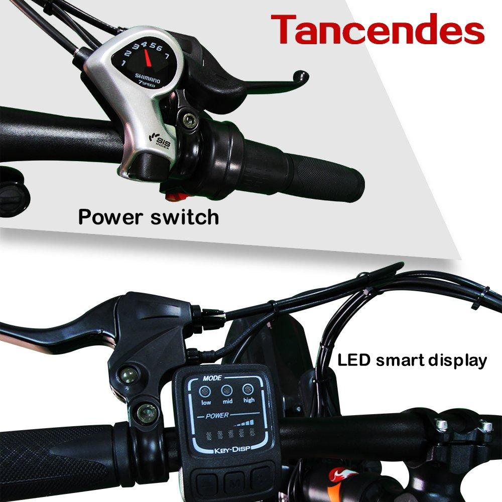 Amazon.com: Bicicleta eléctrica tancendes 26