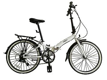 """ECOSMO 24 """"rueda de bicicleta de aleación de bicicleta plegable ligero 7 SP,"""