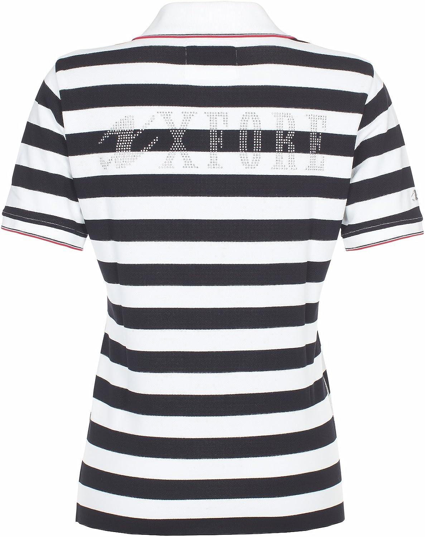 Xfore Camiseta Polo de Golf a Rayas Glasgow para Mujer con Logo ...