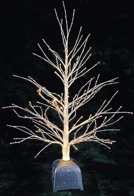 Christmas Concepts® 32 Inch White Fibre Optic Twig Tree with White Fibre  Optics And Silver - Christmas Concepts® 32 Inch White Fibre Optic Twig Tree With White