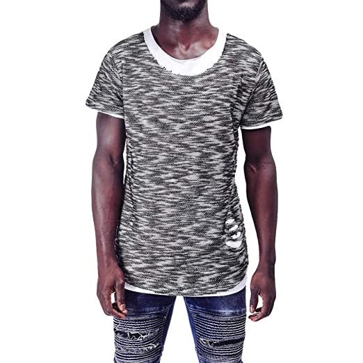 bc6f4452e MmNote Save 15% Mens Casual Fashion Simple Original Textured Design Loose  Stretch Cool Quick Quick-Dry Short Sleeve T-Shirt at Amazon Men's Clothing  store: