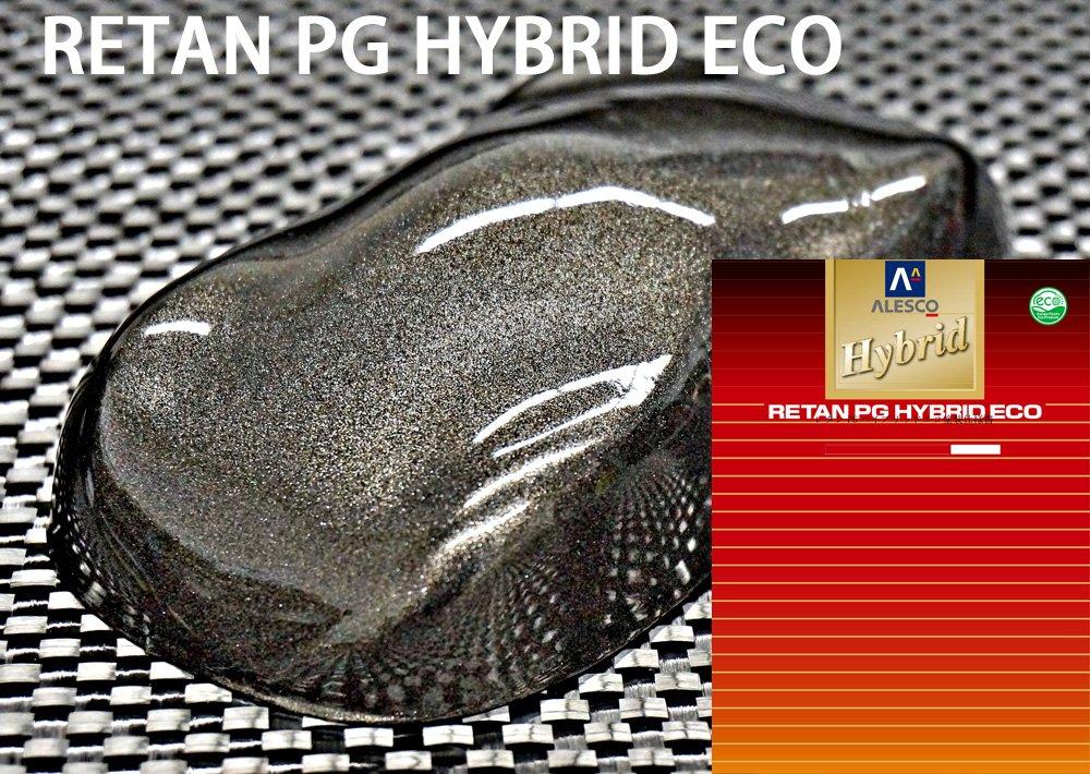 コスト削減に!レタンPG ハイブリッド エコ 超極粗目 ガンメタリック 2kg/自動車用 1液 ウレタン 塗料 関西ペイント ハイブリット B0728H998V   2kg