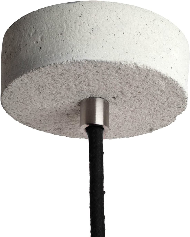 LED Beton Hängeleuchte natur inklusive LED GU10 Leuchtmittel warmweiß 4,3W - Betonlampe für Esszimmer, Büro & Wohnzimmer Beton - Normal