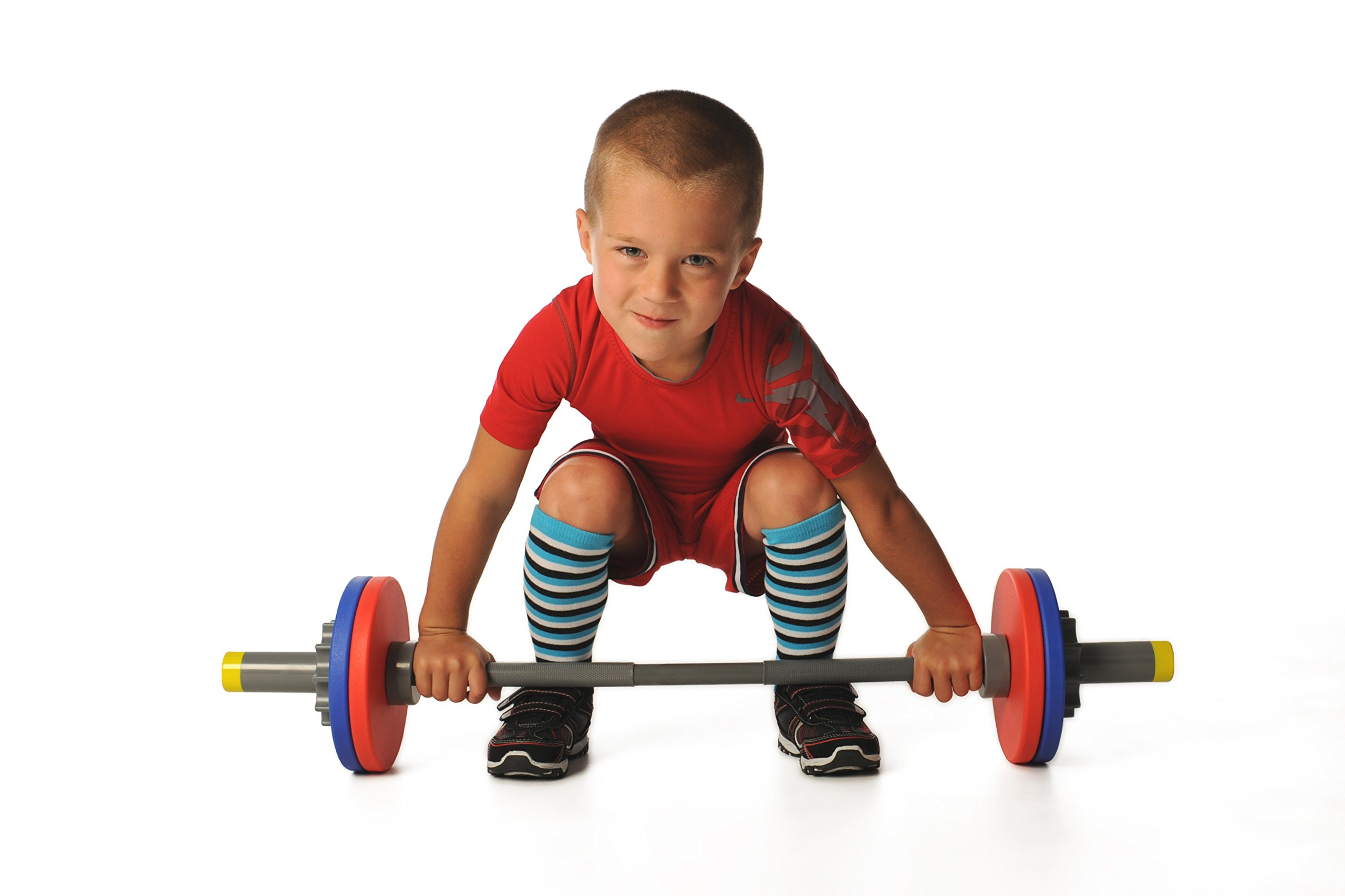 WOD Toys Barbell Mini - Adjustable Barbell Set for Kids Fitness - Safe, Durable and Kids Fitness Toys by WOD Toys