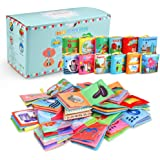 Acekid Baby Cloth Book, 12pcs Soft Stroller Books - Nontoxic, Colorful and Crinkle, Idea for Infants and Toddlers…