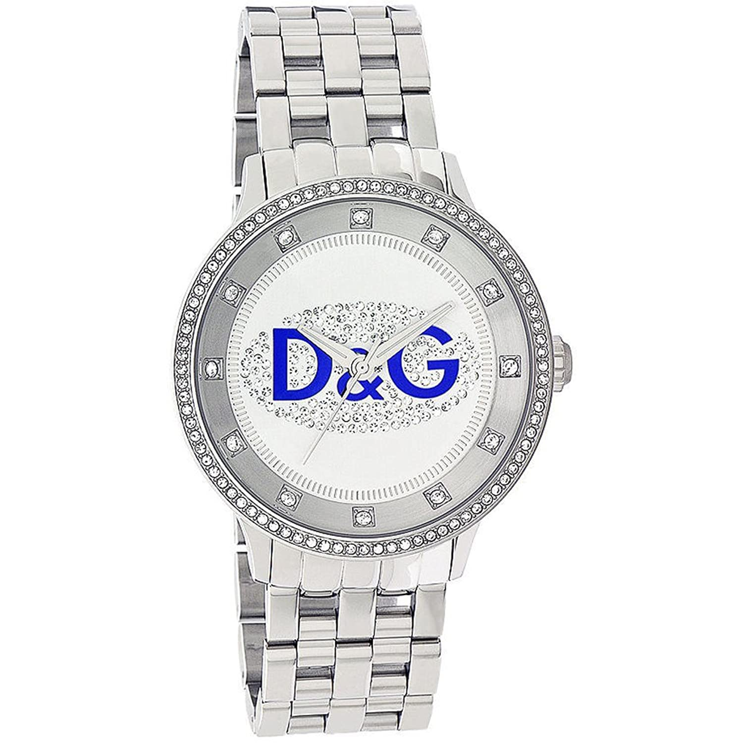 D&G Dolce&Gabbana Damen-Armbanduhr PRIME TIME BIG WITH BLUE LOGO BRC DW0133