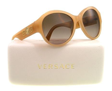 b97a3a7aad Amazon.com  Versace VE4254 Sunglasses-503913 Opal Beige (Brown Gradient  Lens)-57mm  Versace  Clothing