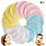 [16 Pack] Bamboo Makeup Remover Pads with Laundry