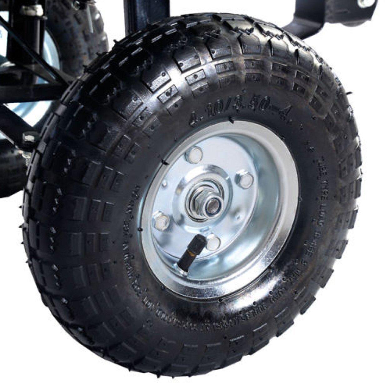 650lb verde jardín carro camión volquete Vagón remolque césped ruedas Rolling almacenamiento Wagon Carrier Barrow aire neumáticos Heavy Duty: Amazon.es: ...