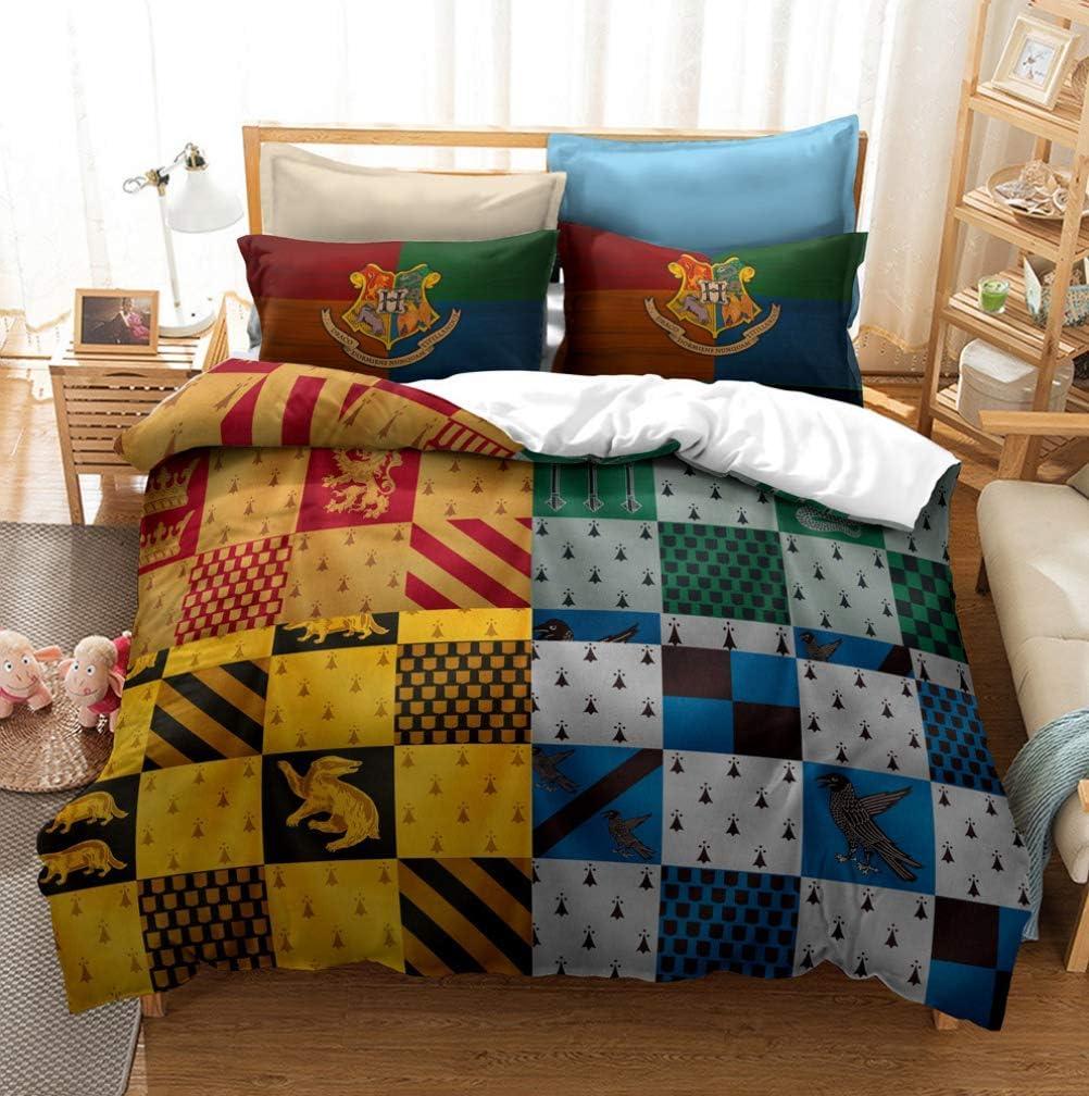 Impression 3D Animal d/écoratif 3 Ensemble Literie Piece avec 2 Pillow Shams,3,King 240x220cm UMOOIN Harry Potter Housse de Couette
