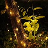 GDEAER 4 Pack 16.4 Ft 50 Led Fairy Lights Christmas Decor Battery Operated Christmas Lights with Remote Waterproof 8 Modes Firefly Twinkle String Lights for Party Bedroom Wedding Decorations